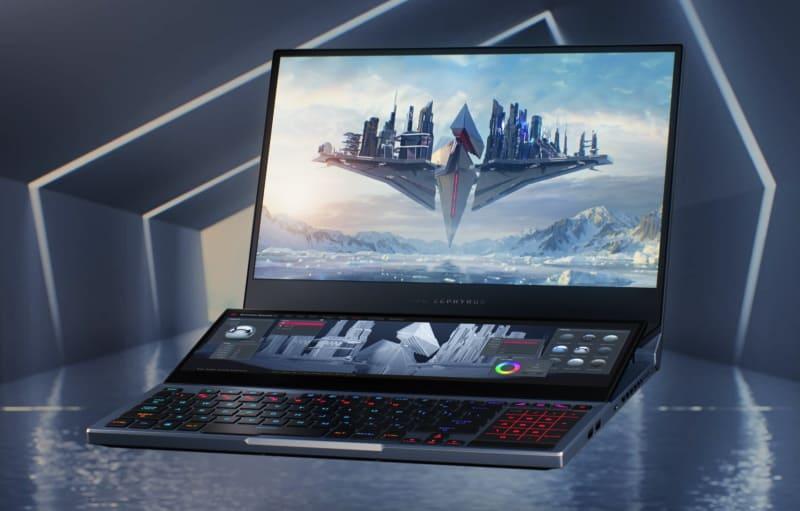 Ноутбук с дополнительным экраном ASUS ROG Zephyrus Duo 15