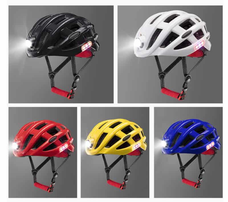 Велосипедный шлем со встроенным фонариком ROCKBROS