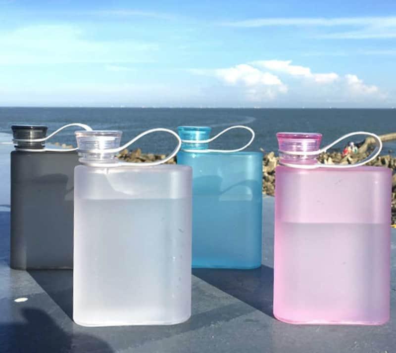 Прозрачная фляжка для воды