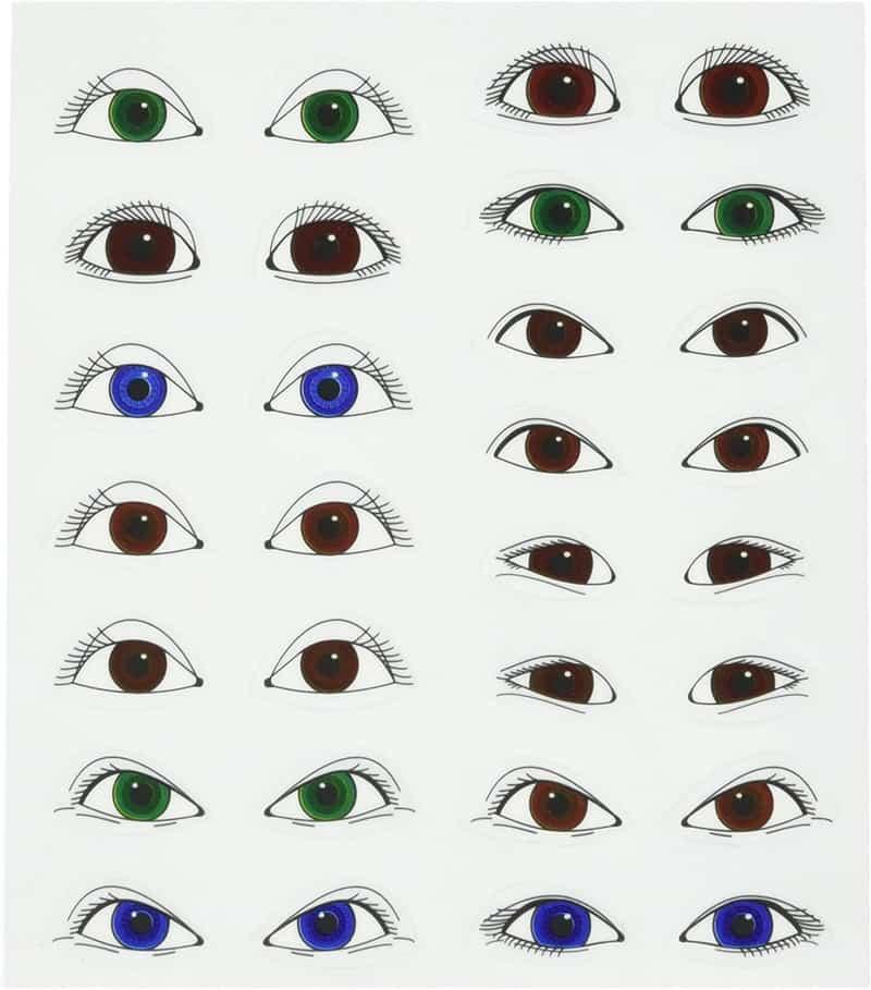 Стикеры на лицо с широко открытыми глазами