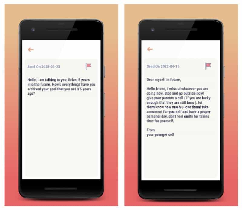 After Time - приложение для составления послания будущему себе