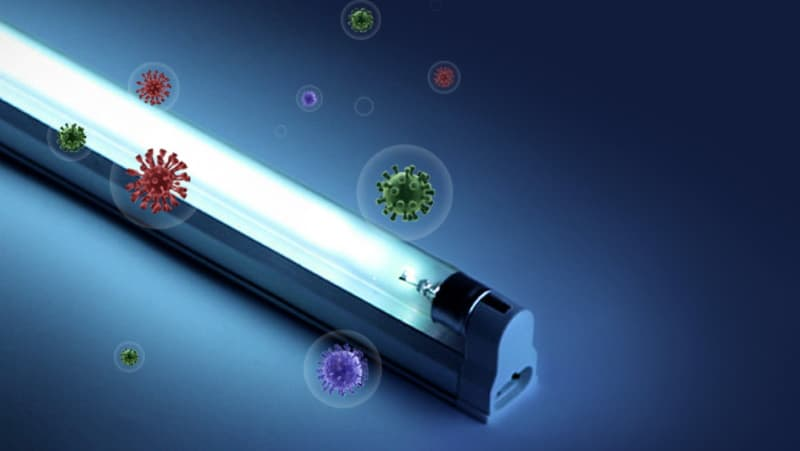 Кварцевая ультрафиолетовая лампа для дезинфекции