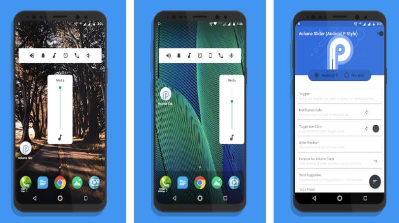 Volume Slider — управление громкостью в стиле Android P