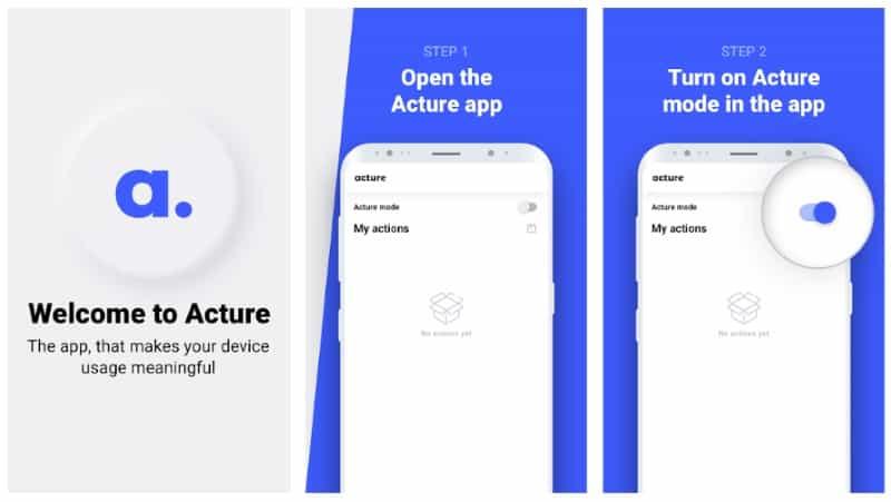 Acture - приложение для осознанного использования телефона