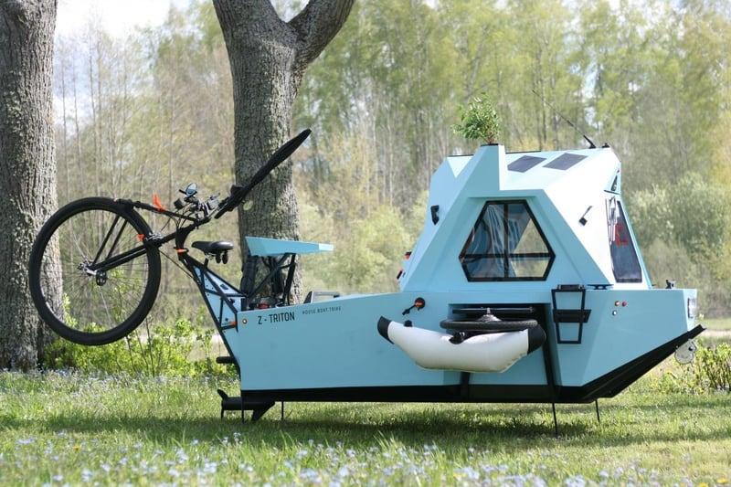 Дом на колёсах, трицикл и лодка Zeltini Z-Triton