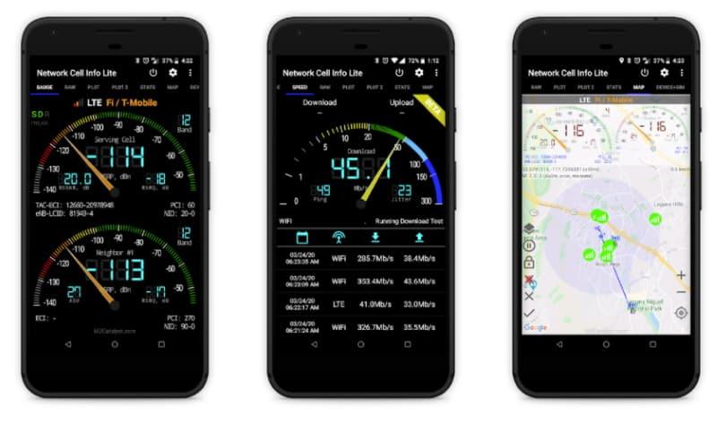 Network Cell Info Lite - приложение для оценки уровня сигнала