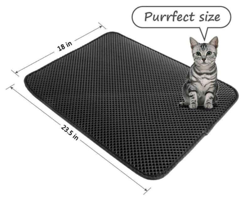Двойной коврик для кошачьего туалета