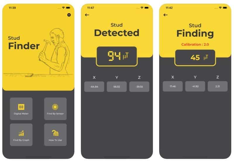 Stud Finder - приложение для поиска металлических деталей