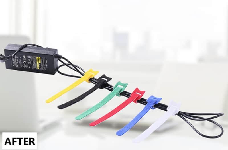 Набор стяжек-липучек для связывания проводов