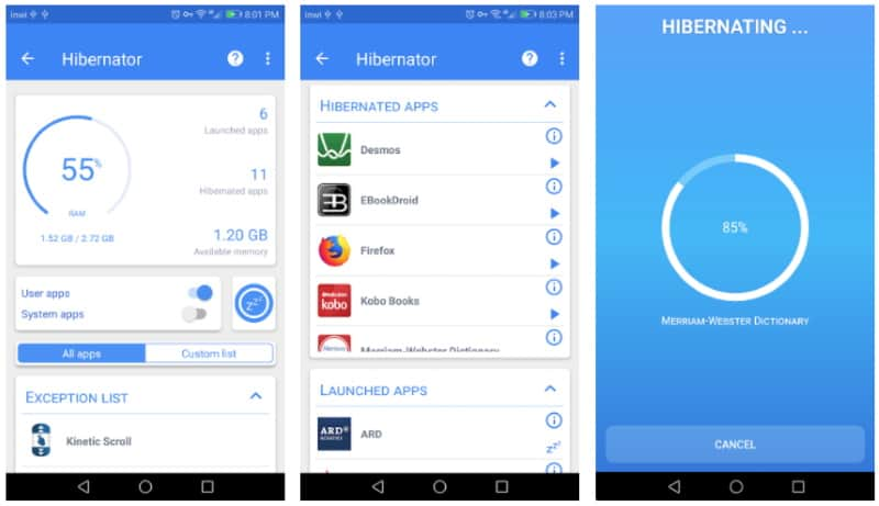 Hibernator - приложение для автоматической выгрузки фоновых процессов