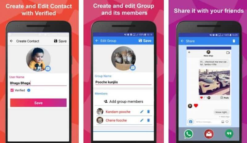 Funsta - приложение для создания фейковых скриншотов из Instagram