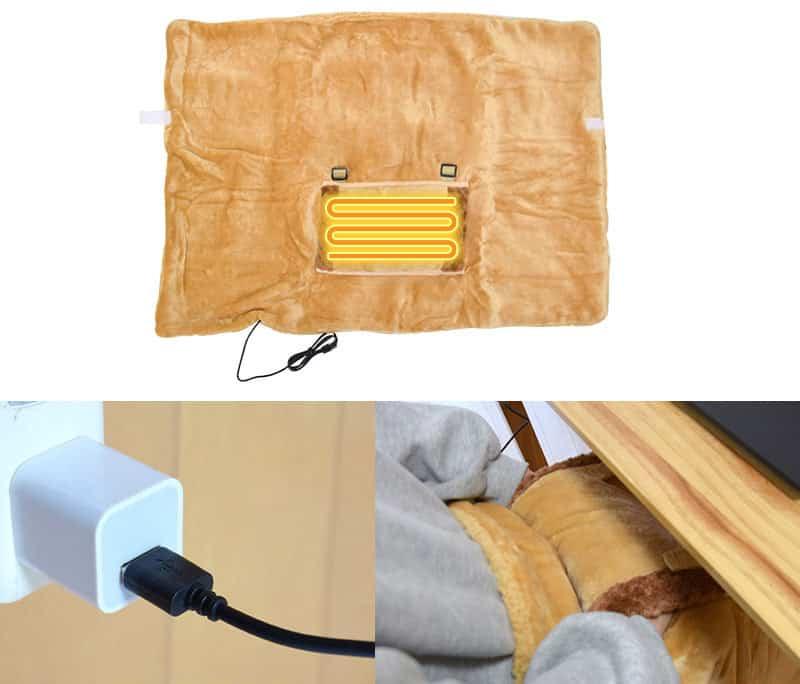 Одеялко с электроподогревом по USB