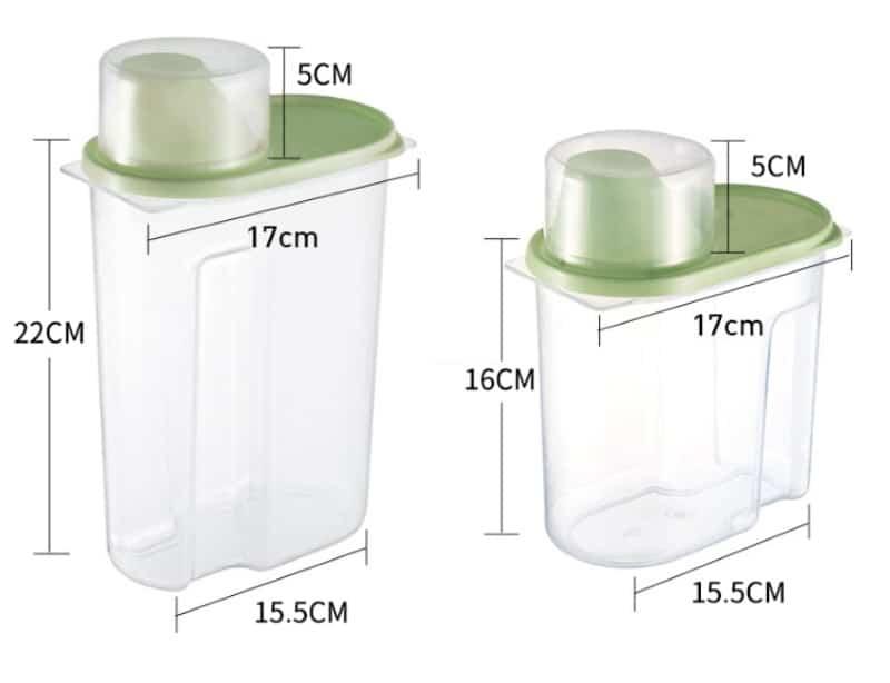 Пластиковый контейнер для хранения круп