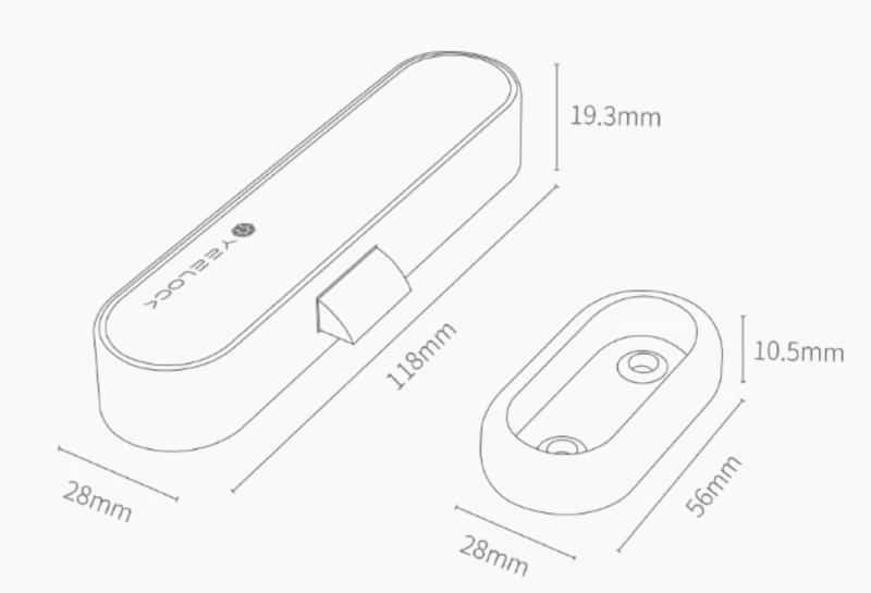 Bluetooth-замок для ящиков Youpin YEELOCK
