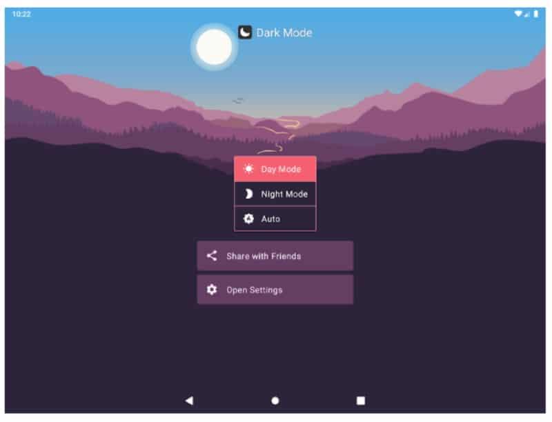 Тёмный Режим — приложение для включения затемнённой темы