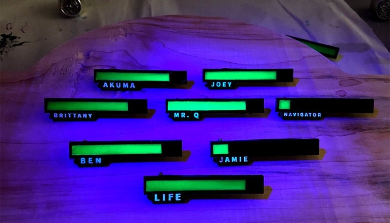 Персонализированные бейджики с полосками жизни