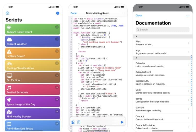 Scriptable — приложение для автоматизации iOS