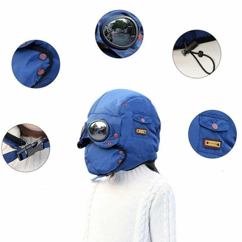 Полная лицевая шапка-маска с очками