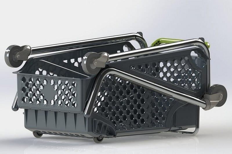 Складная тележка для покупок Shoppa Cart