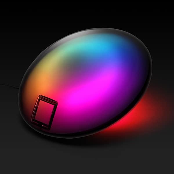 Разноцветная лампа Yantouch Jellyfish