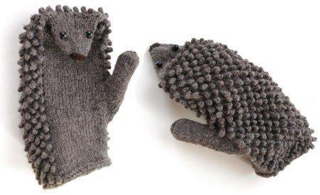 Набор для вязания: варежки-ёжики