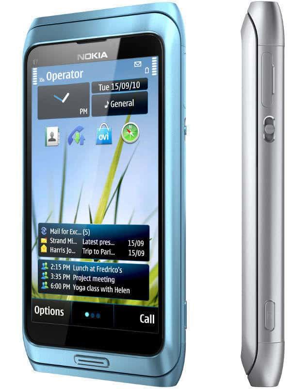 Мобильный телефон Nokia E7 Blue