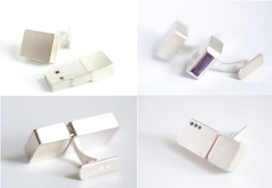Серебряные Flash-запонки