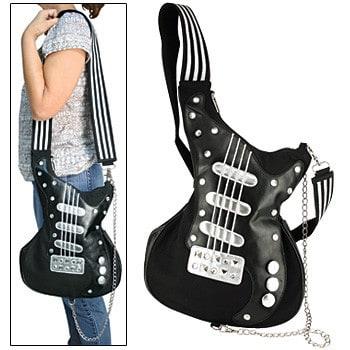 Стильные молодежные сумки в виде гитары, проигрывателя, магнитофона. .
