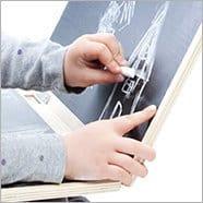 Детский деревянный ноутбук