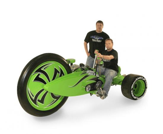 Трехколесный мотоцикл Lean Mean Green Machine