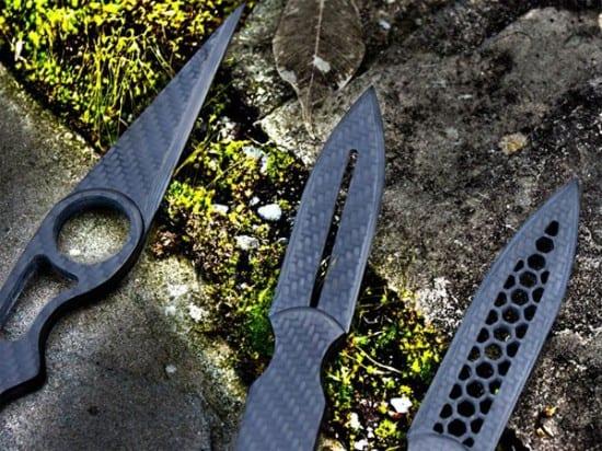 Комплект из трех ножей Escort Carbon Fiber Dagger