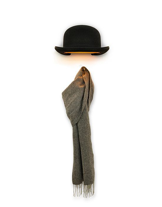 Jeeves Bowler Hat Wall Lamp