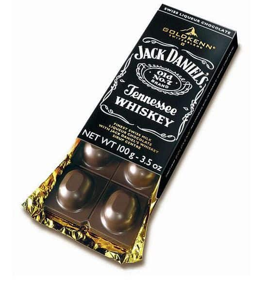 Jack Daniels Whiskey-Filled Chocolate