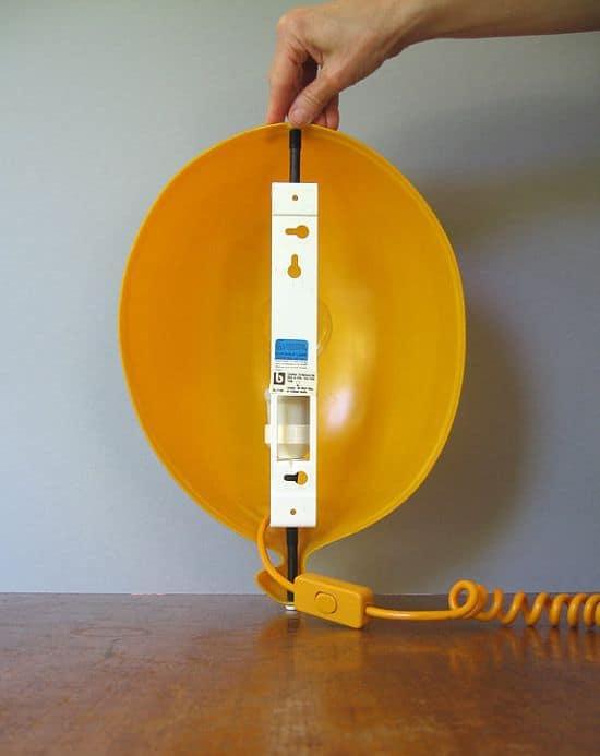 Yellow Plastic Balloon Lamp