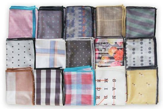 Declan Squared Microfiber Pocket Squares & Handkerchiefs