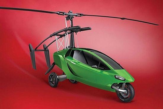 Летающего вертолета и мотоцикла