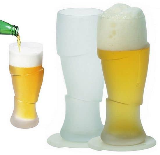 Surreal Sliced Beer Glasses