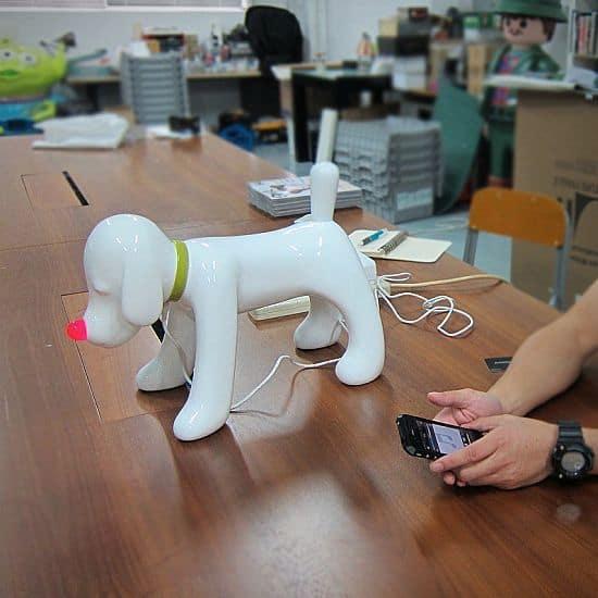 Fiberglass Doggy Radio Sculpture by Yoshitomo Nara