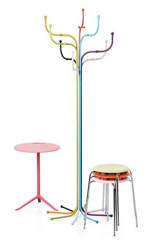 Multicolor Coat Tree Stand