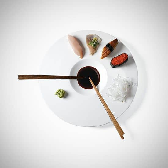 Porcelain Sushi Time Dish by Mint