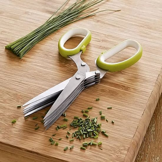 RSVP Stainless Steel Multi-Blade Herb Scissors