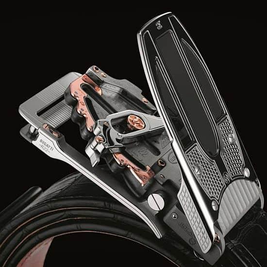 The Calibre R22 Mechanical Belt Buckle by Bugatti x Roland Iten