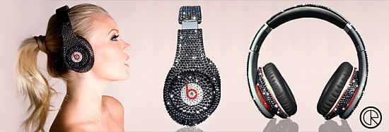 Crystal Rocked Beats Studio Headphones