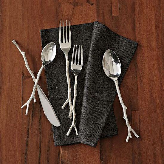 Silver Twig Flatware Set