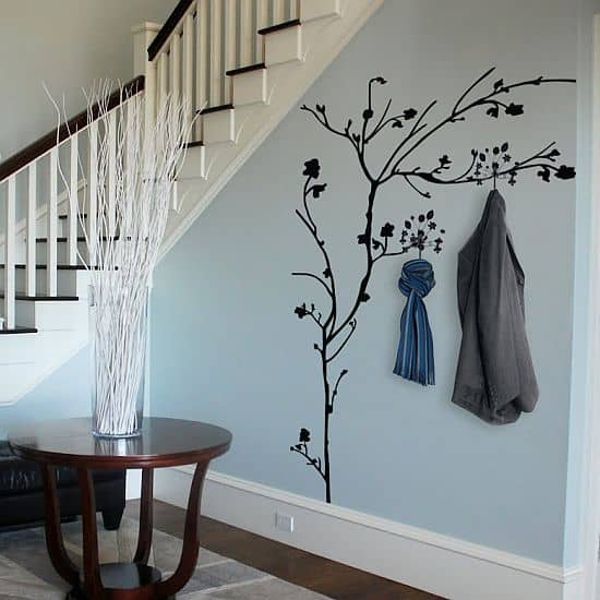 Tree Wall Decal with Hooks