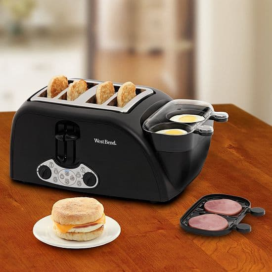 West Bend TEM4500W Egg and Muffin Toaster
