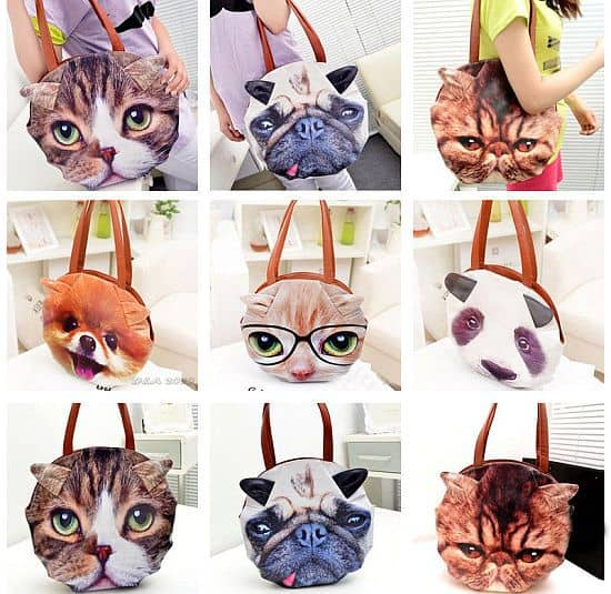 Giant Cat Face Tote Bag