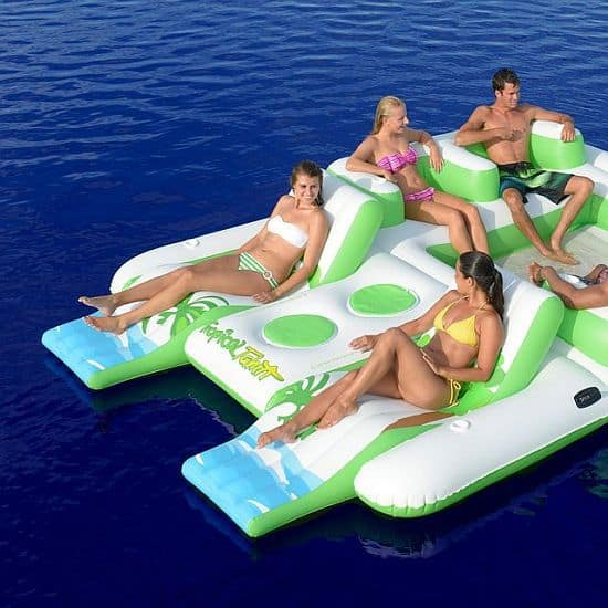 Tropical Tahiti Inflatable Floating Island