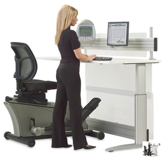 Elliptical Machine Office Desk