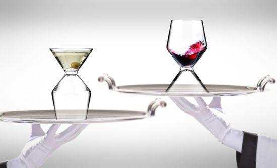 Half Martini Glass Half Wine Glass